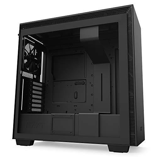 NZXT H710 - ATX-Mid-Tower-Gehäuse für Gaming-PCs - Front I/O USB Type-C Port - Tempered Glass-Seitenfenster mit Schnellspanner -Für Wasserkühlung nutzbar - Schwarz