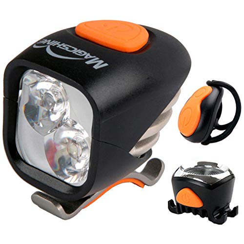 Magicshine MJ 902, 1600 Lumens Bike Light Set, Wireless Remote Bicycle Lights Front and Rear Combo, Rechargeable 2 CREE XM-L2 LED Bike Tail Light, Portable & Convenient Bright Bike Light