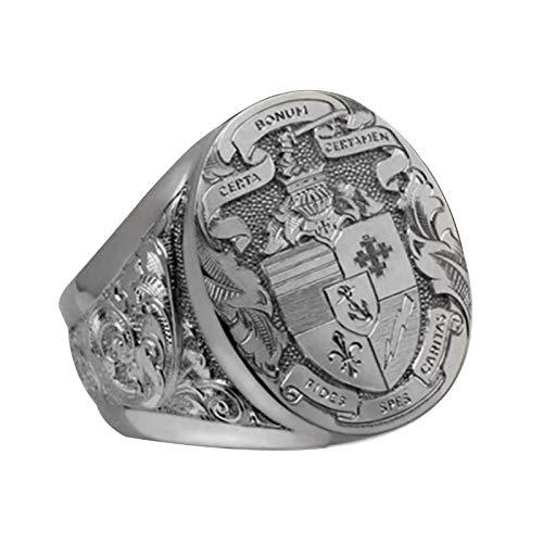 EzzySo Totem-Skulptur-Ring, europäischer und amerikanischer Modeschmuck, Goldener mysteriöser Brunnen Ring Schmuck (2 Stück),B,10