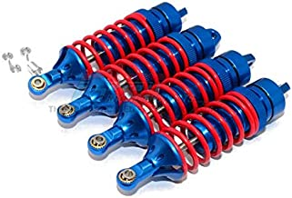 GPM Traxxas Revo / Revo 3.3 / E-Revo Brushless / E-Revo VXL 2.0 Upgrade Parts Aluminum Front Or Rear Adjustable Spring Dampers (85mm) with Aluminum Ball Ends - 2Pr Set Blue