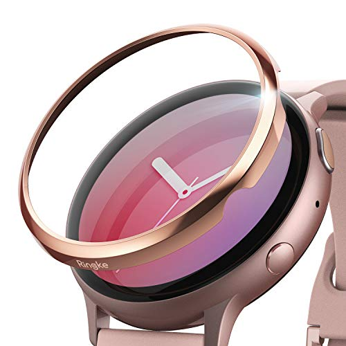 Ringke Bezel Styling Cover voor Galaxy Watch Active 2 40mm Bezel Ring hoesje Case Adhesive Accessoire - Rose Gold (GWA2-40-02)