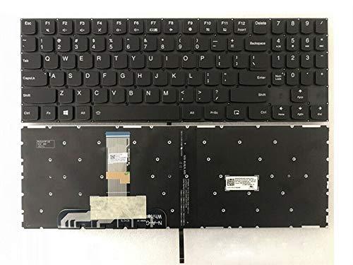 Teclado para computadora portátil Nuevo teclado de computadora portátil retroiluminado en inglés de EE. UU. (Sin reposamanos) Reemplazo para Lenovo Legion Y530 Y530-15ICH 81FV Y530-15ICH-1060 Y7000P Y