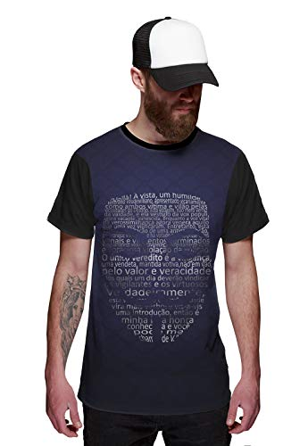Camiseta Vendetta V de Vingança Máscara Azul Purple