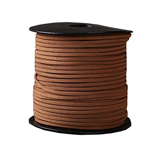ZHWNGXOlian Cuerda De Terciopelo De Cuero Multifuncional De 3 Mm Tejida A Mano Collar De Bricolaje Cadena Colgante De Joyería (90 M)