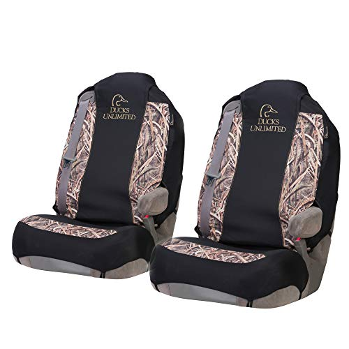 Ducks Unlimited Camo Seat Covers | Universal Fit | Shadow Grass Blades | 2 Pack