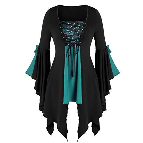 Orchgas Damen Abendkleider Bluse Fledermausärmel HerbstElegant Kleider Mittelalter kinderkostüm...