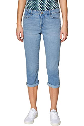 edc by ESPRIT Damen 039CC1B030 Straight Jeans, Blau (Blue Light Wash 903), W27 (Herstellergröße: 27)