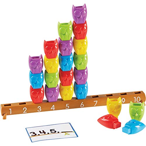 Learning Resources 1-10 Counting Owls Activity Set, Back to School Games, Classroom Games for Teachers, Math Game, Fine Motor Toy, 25 Piece Set, Ages 3+
