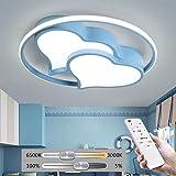 Lámpara de Techo LED Moderna Lámpara de Techo en Forma de corazón Iluminación Niños Niñas Lámpara de Techo Dormitorio Lámpara de habitación de niños Lámpara de Control Remoto Lámpara de Sala de Estar