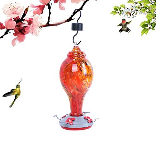TIANTIAN mangiatoia per colibrì per esterni, mangiatoia per uccelli in vetro soffiato a mano, include fili per appendere e fossato di formiche da Sahara Sailor.