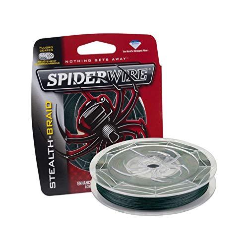 SPIDERWIRE SCS10G-125 Braided Stealth Superline, Moss Green, 10 Pound, 125 Yards