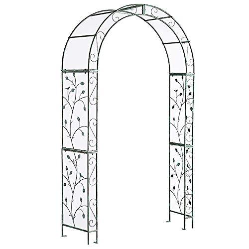 Tonnelle de jardin en métal rétro, tonnelle de jardin en acier, faites l'ancien, tonnelle de jardin, cérémonie de la partie de mariage d'arc, décoration, plante grimpante, treillis, support
