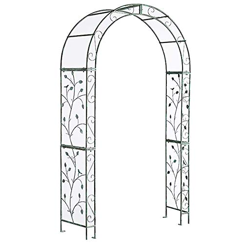 COFFEE CAT Retro Metal Garden Arbor,Steel Outdoor Garden Arbor,Do The Old,Garden Arch Arbor,Wedding Arch Party Ceremony Decoration Climbing Plant Support Trellis Arch