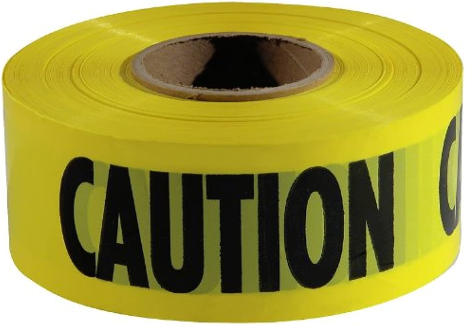 MOT Empire 771001 Caution Barricade Tape, Caution Text, 3  x 1000ft, Yellow Black