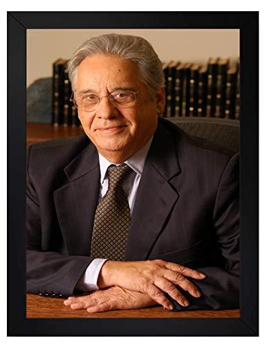 quadro fernando henrique cardoso presidente do brasil tamanho 35x25cm com vidro