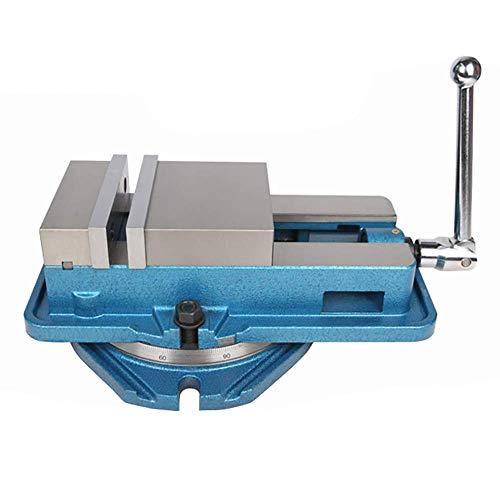 Precision QM Heavy 3/4/5/6 Zoll CNC Schraubstockfräsmaschine, Schraubstock für Fräsmaschine Bohrmaschine Hobelmaschine (6 Zoll, mit Sockel)