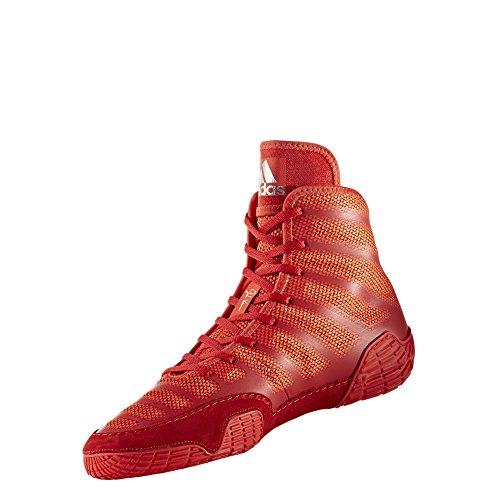 Adidas Adizero Varner Ringerschuhe, Schwarz / Weiß, EU-Größe 47 M, Rot - Rot / Silberfarben - Größe: 39 EU