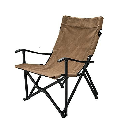 LWZ Kleiner Flusssessel aus Aluminiumlegierung, Baumwolle, zusammenklappbar, hohe Rückenlehne, Campingstuhl, schwere Stütze, 150 kg
