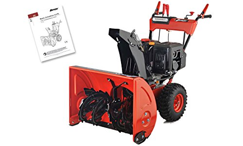 Benzin Schneefräse 13 PS Elektrostarter Schneeschieber Kehrmaschine Motorbesen