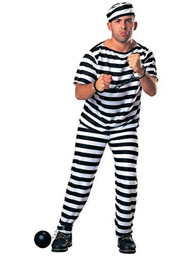 Rubies Officielle Hommes de Prisonnier, pour Adulte – Taille M/Taille Standard