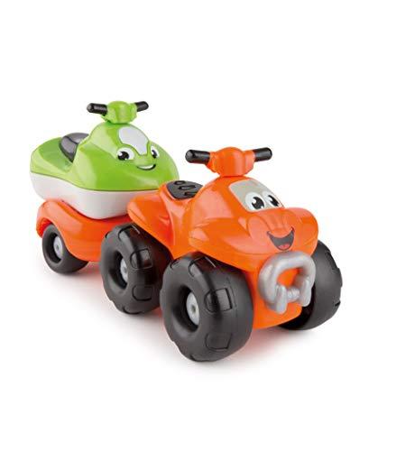 Ideal Trend PlayBIG Flizzies Quad mit Anhänger und Jet-Ski Kinder Spielzeug ab 12 Monate