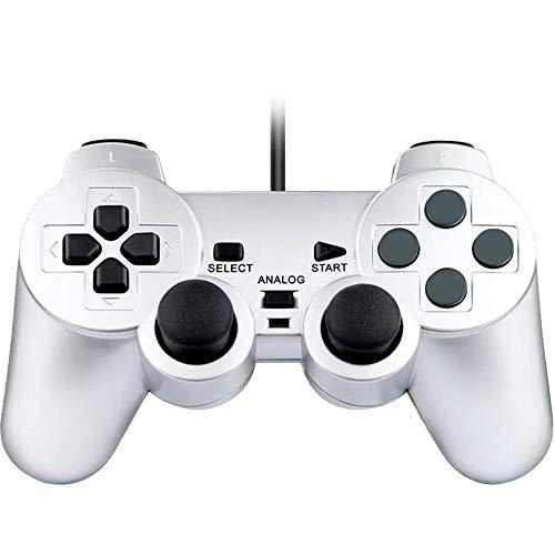 Fancyan 有線 PS2用 アナログ コントローラー playstation2 対応 ゲームパッド 日本語説明書 付(银)