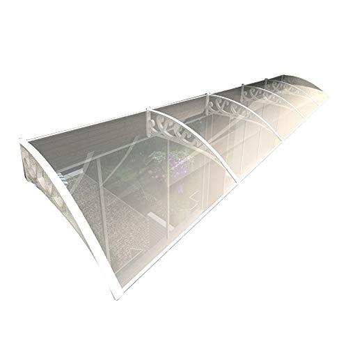 WXQ Jardín al Aire Libre Dosel de Techo Techo Puerta Exterior Tejadillo Marquesina Techo Panel De Policarbonato Resistente A La Intemperie Techo Sun Pergola Patio Rain Shelter, con Soporte Blanco