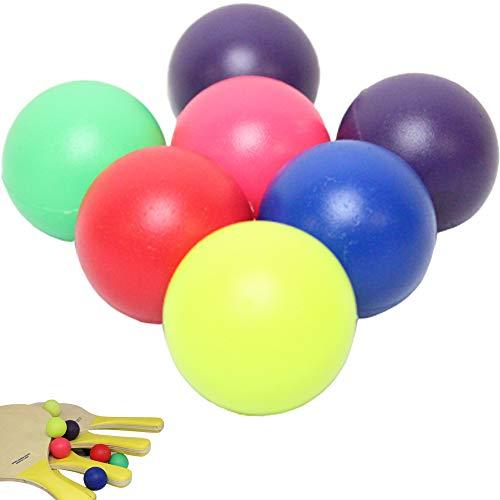 W4W Beach Paddle Ball Replacement Balls – Extra Balls for Pro Kadima & Smashball Racket (Set of 7 Balls)