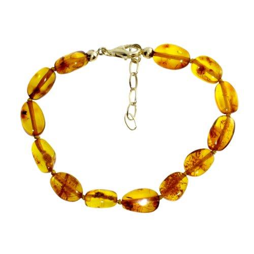 Ostsee-Schmuck Damen-Armband 925/000 Sterlingsilber vergoldet mit Bernstein 001 213043 1820