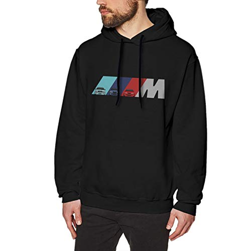 N / A B-M-W Power Men's Hoodie Sweatshirt Long-Sleeve Baumwolle Herren Hooded No Pocket Sweatshirt Kapuzenpulli XL