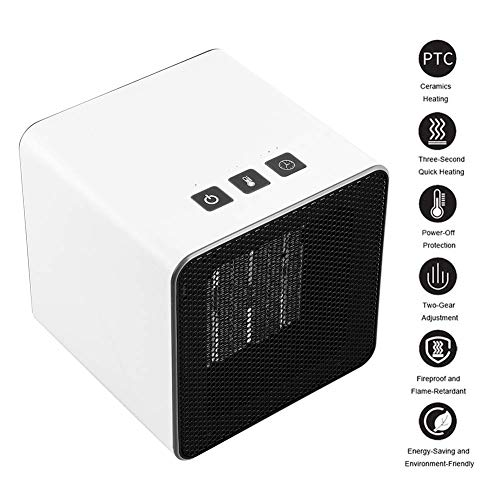 Snel CHZHU draagbare PTC keramiek energiebesparing verwarming 400W-800W, snelle verwarming oververhittingsbeveiliging, met thermostaat timer en 2 warmtestanden, stoel voor kantoor, slaapkamer, huishouden slaap