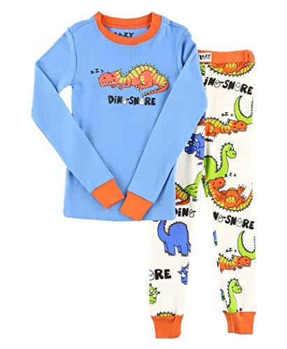 LazyOne Jungen Dino-Snore Kinder Pyjama Set Langarm6 Jahre
