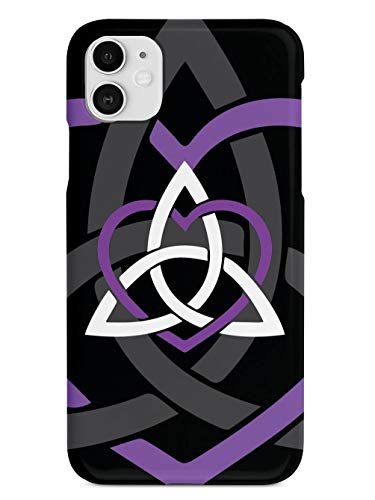 Inspired Cases - 3D Textured iPhone 11 Case - Rubber Bumper Cover - Protective Phone Case for Apple iPhone 11 - Celtic Sisters Knot - Purple - Black