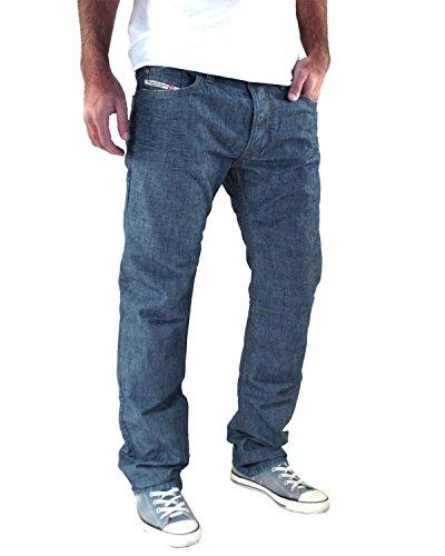 Diesel - Jeans da Uomo Safado R888 - Regular Slim Straight - Blu, W32 / L32