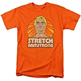 Stretch Armstrong Badge Unisex Adult T-Shirt for Men and Women, Orange, X-Large