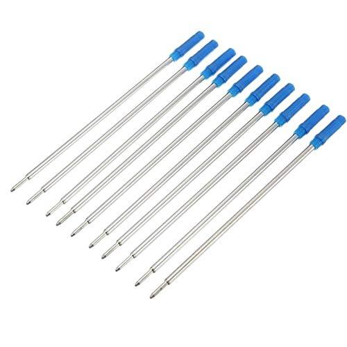 Ruluti 10pcs Pluma De Recarga De Tinta Azul Bolígrafo Bolígrafos Recambios para Material Escolar Oficina Escritura Mayorista