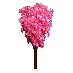SoundsBeauty 1 Bouquet 3 Branches Cherry Blossom Silk Artificial Flowers Home Wedding Decor