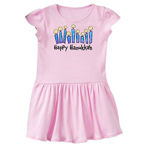 inktastic Happy Hanukkah with Lit Candles Toddler Dress 2T Ballerina Pink 2d884