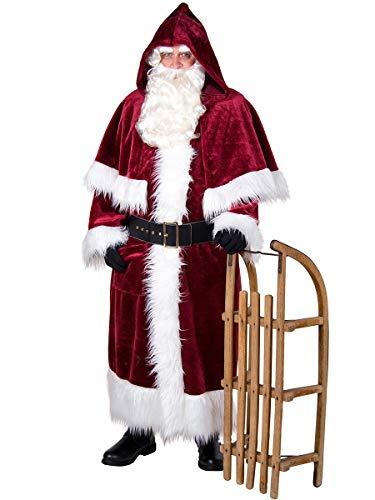 Weihnachtsmann-Mantel Nostalgie mit Pellerine