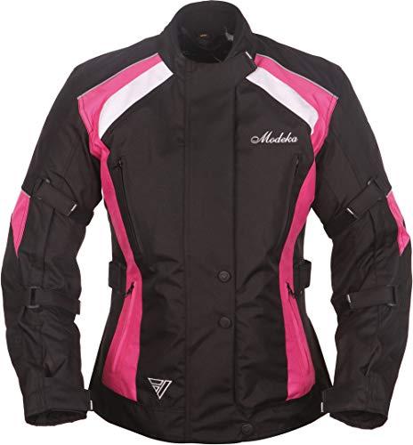 Modeka Janika Damen Motorradjacke Schwarz/Pink 42