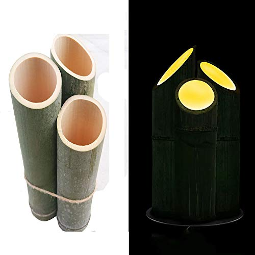 Lámpara de caña de bambú