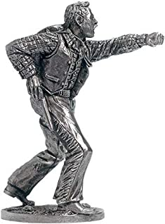 Fighting Cowboy Tin Toy Soldiers Metal Sculpture Miniature Figure Collection 54mm (Scale 1/32) (WW-23)