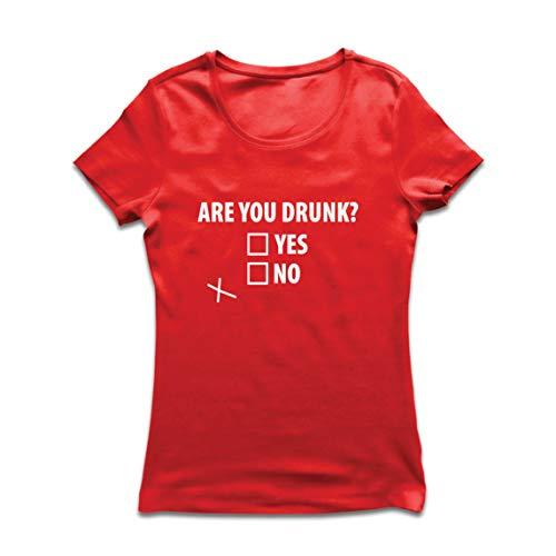 lepni.me Camiseta Mujer ¿Estás Borracho, Bebiendo Alcohol de Regalo en la Fiesta?