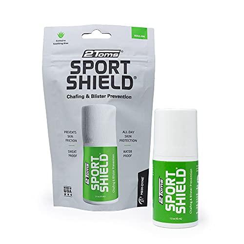 2Toms SportShield - Schutzfilm gegen Scheuern, Druckstellen, Blasen am ganzen Körper (45 ml Roll-On)