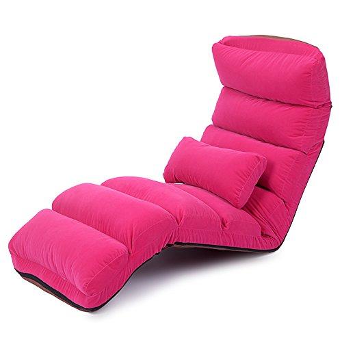 Xiaolin Lazy Couch Recliner Pliant Chaise arrière Pause déjeuner Chaise Balcon maternité Chaise (Couleur : 01)