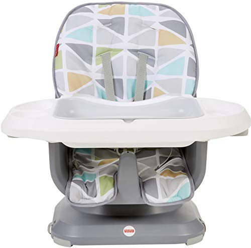 Fisher-Price SpaceSaver High Chair, Green/Grey