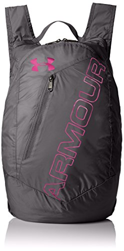 Under Armour Packable Backpack, Graphite (040)/Tropic Pink, One Size Fits All