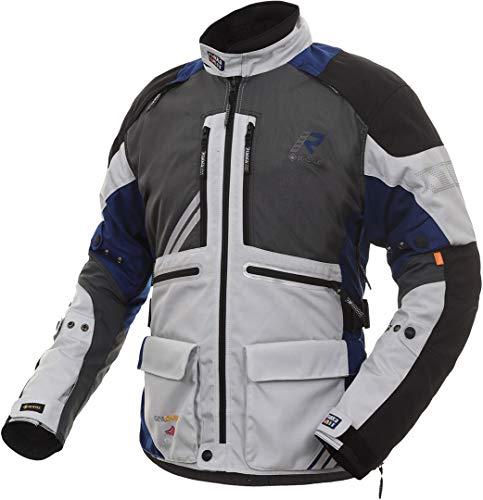Rukka Offlane Chaqueta textil para motocicleta, gris/azul, 56
