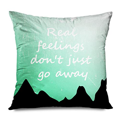 Jamron Throw Pillow Cover Square 20x20 Inches Green Cloth Always Cool Awesome Slogan Graphics Design Various Best Calm Carry Stay College Day Decorative Zipper Pillowcase Home Decor Cushion Case