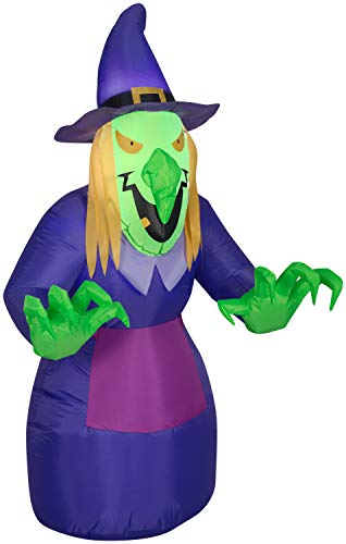 Gemmy Halloween Inflatable 4' Scary Witch Yard Decoration